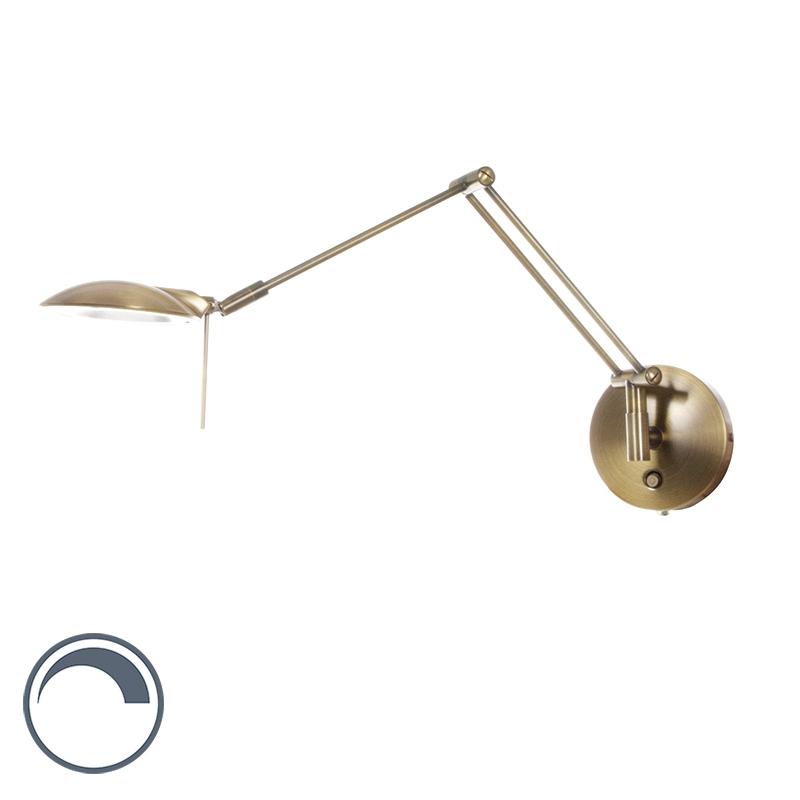 Moderne wandlamp brons dimbaar incl. LED - Tyreese