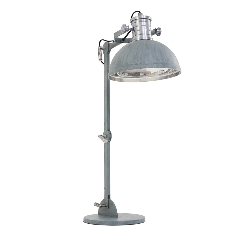 Industriele tafellamp grijs - Daryl
