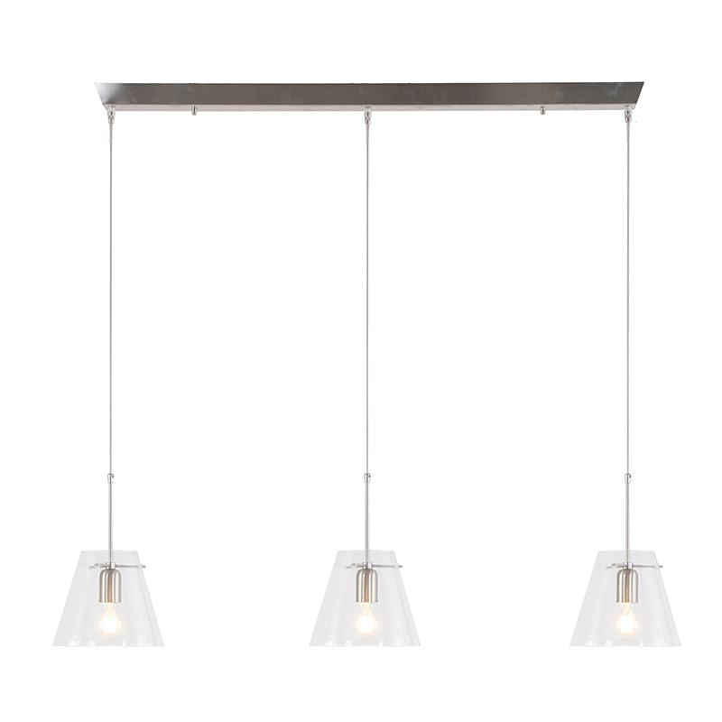 Steinhauer Hanglamp Glass Cloak 3 lichts