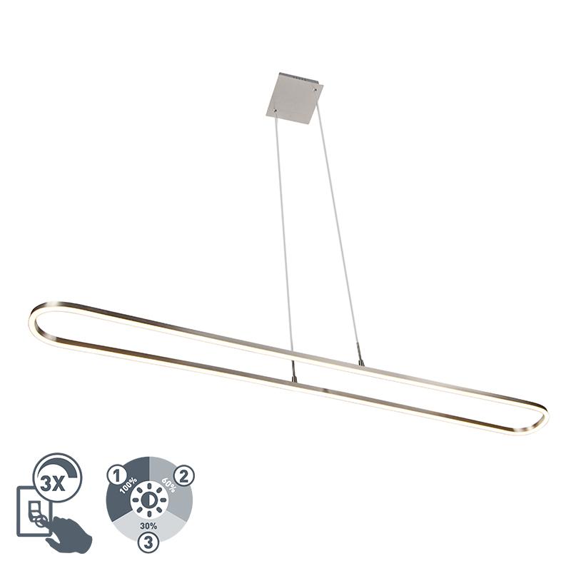 Moderne hanglamp staal 3 staps dimbaar incl. LED - Charlie