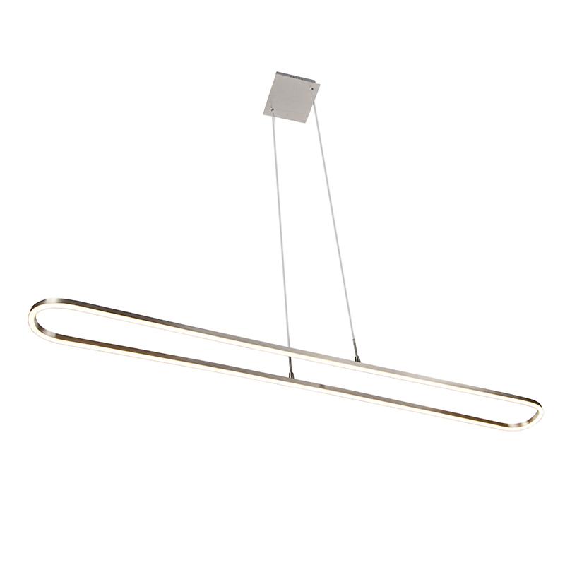 Moderne hanglamp staal incl. LED 3-staps dimbaar - Charlie