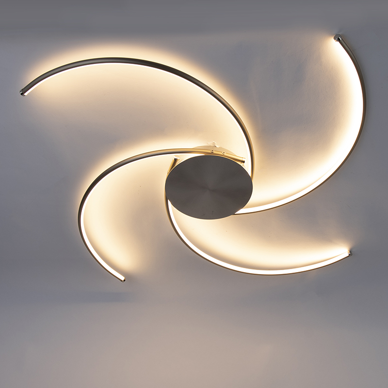 Design plafondlamp staal incl. LED - Alice
