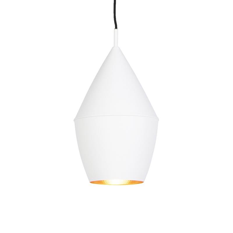 Skandynawska lampa wisząca biała ze złotym - Depeche-Jacob