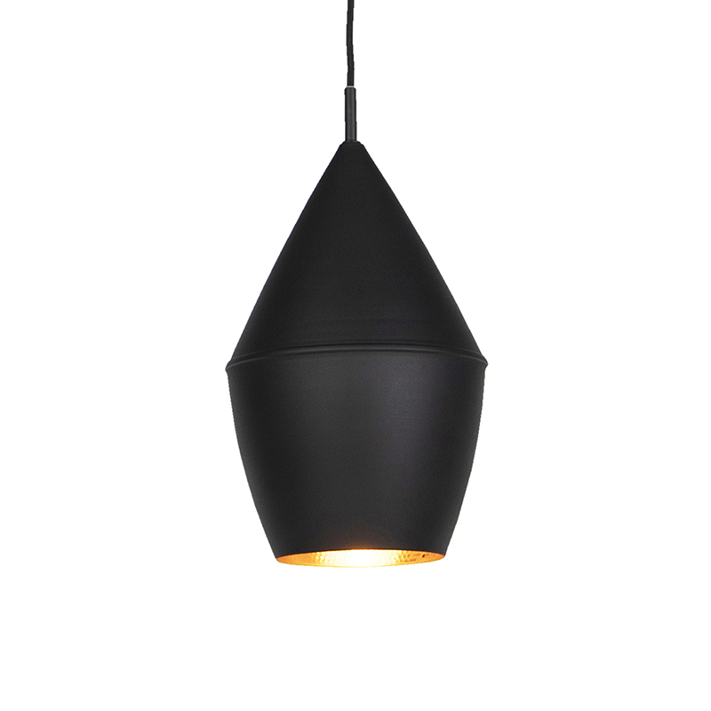 Moderne hanglamp zwart met goud - Depeche-Jacob