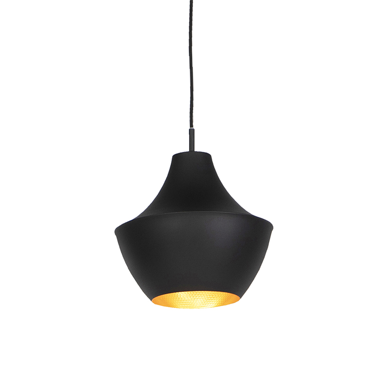 Scandinavische hanglamp zwart met goud - Depeche-Jarred