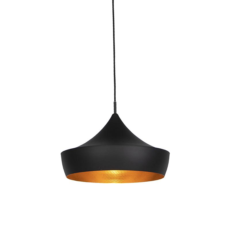 Scandinavische hanglamp zwart met goud - Depeche-Paul