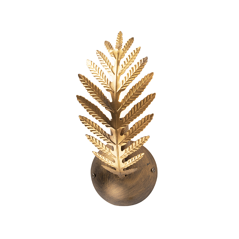 Vintage wandlamp goud – Botanica