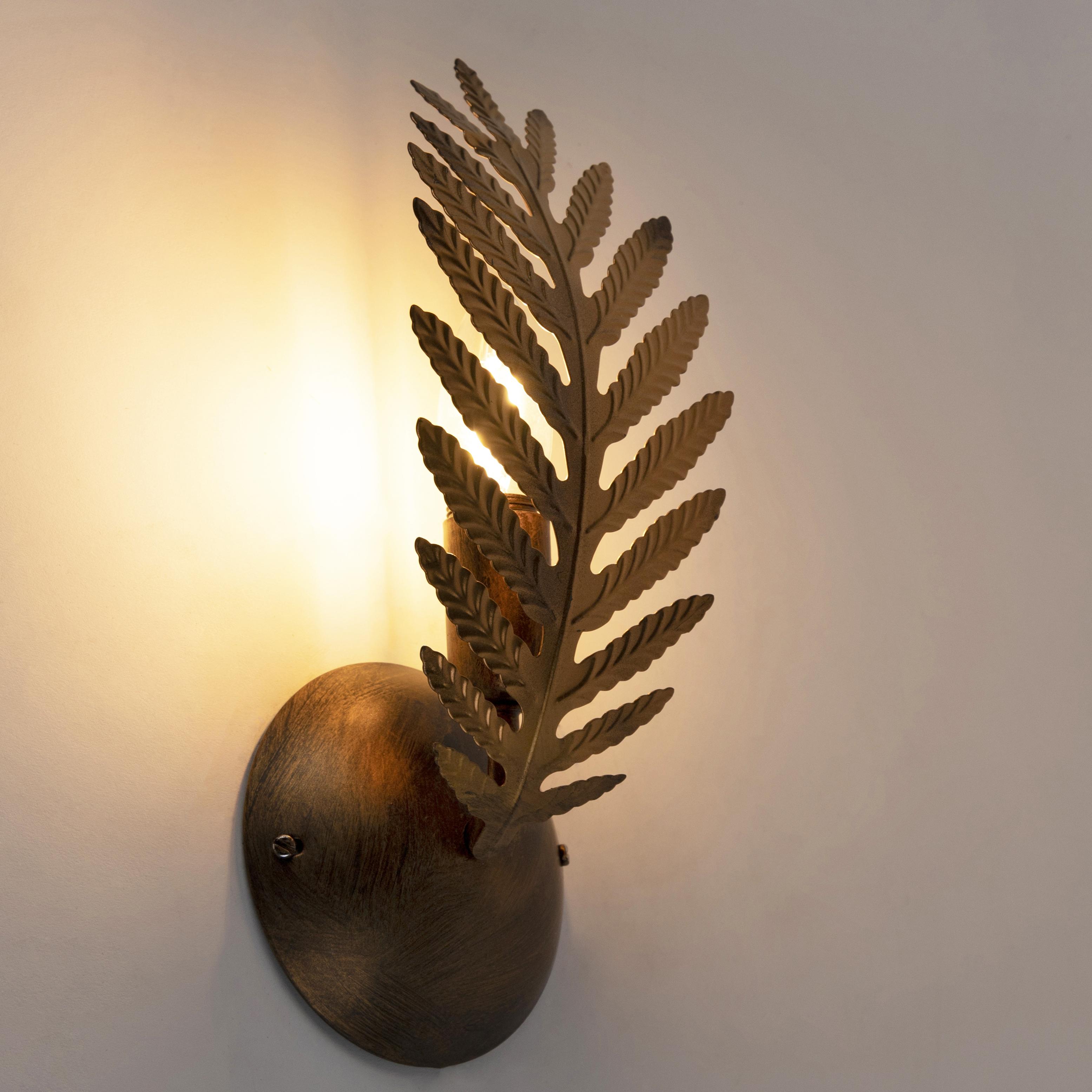 Vintage wandlamp goud - Botanica