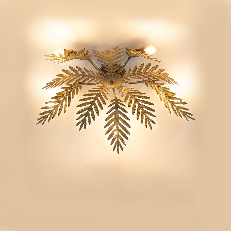 Vintage plafondlamp 5-lichts goud - Botanica