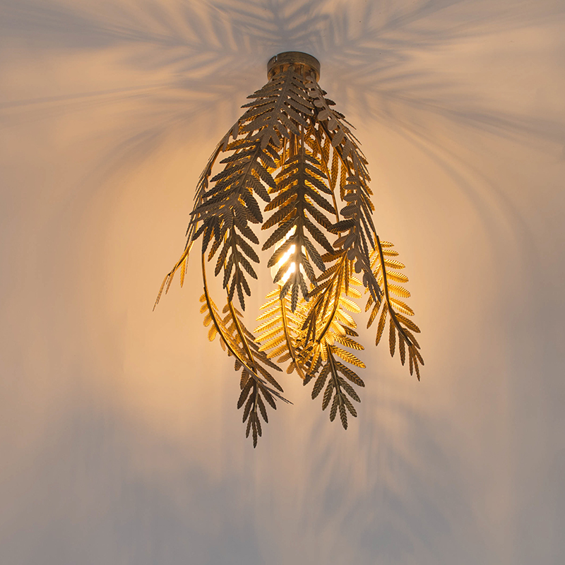 Vintage plafondlamp large goud - Botanica