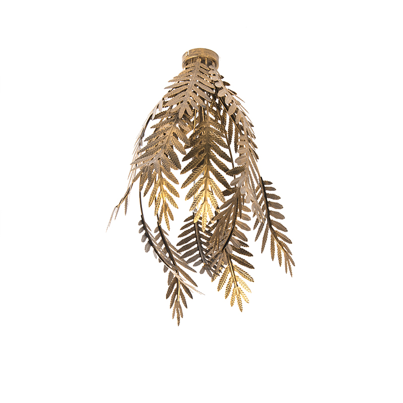Plafon vintage duży złoty - Botanica