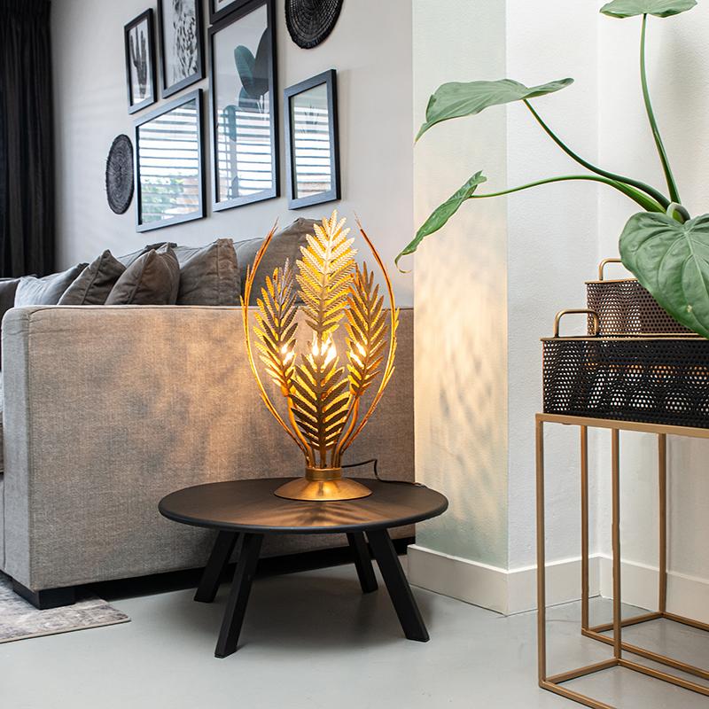 Vintage tafellamp large goud - Botanica