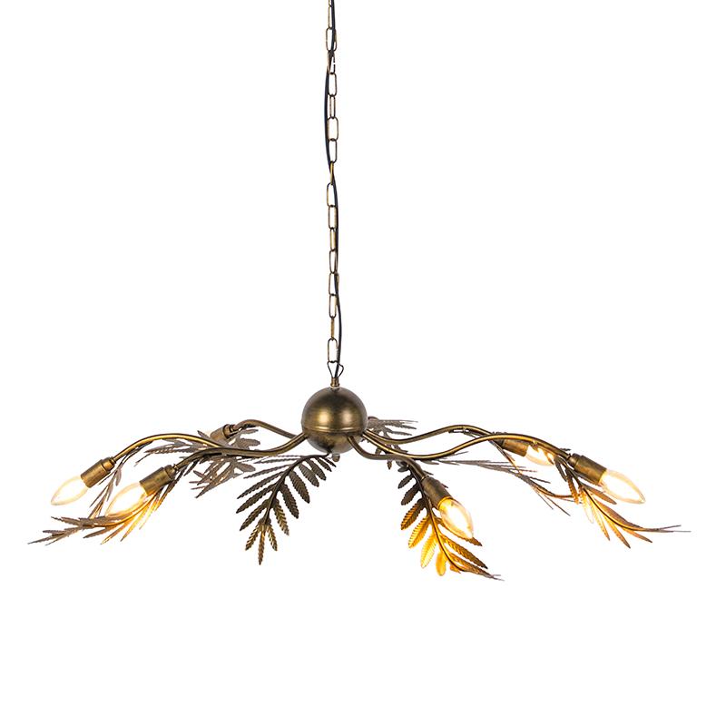 Vintage Hanglamp 6-lichts Goud - Botanica
