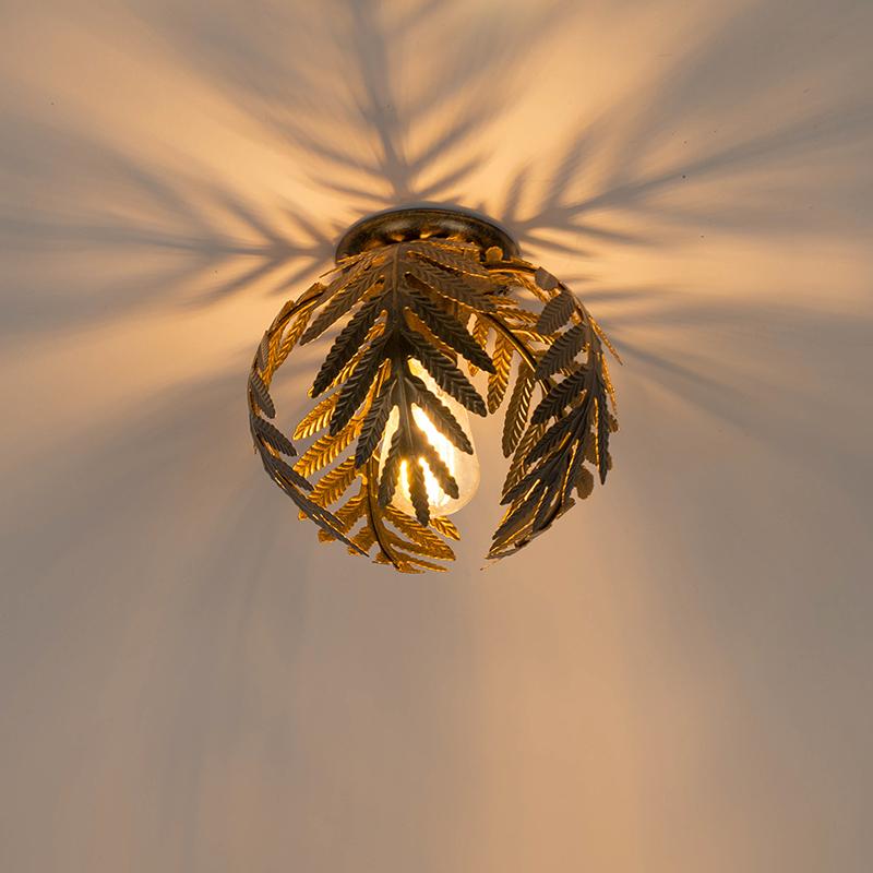 Vintage plafondlamp small goud - Botanica
