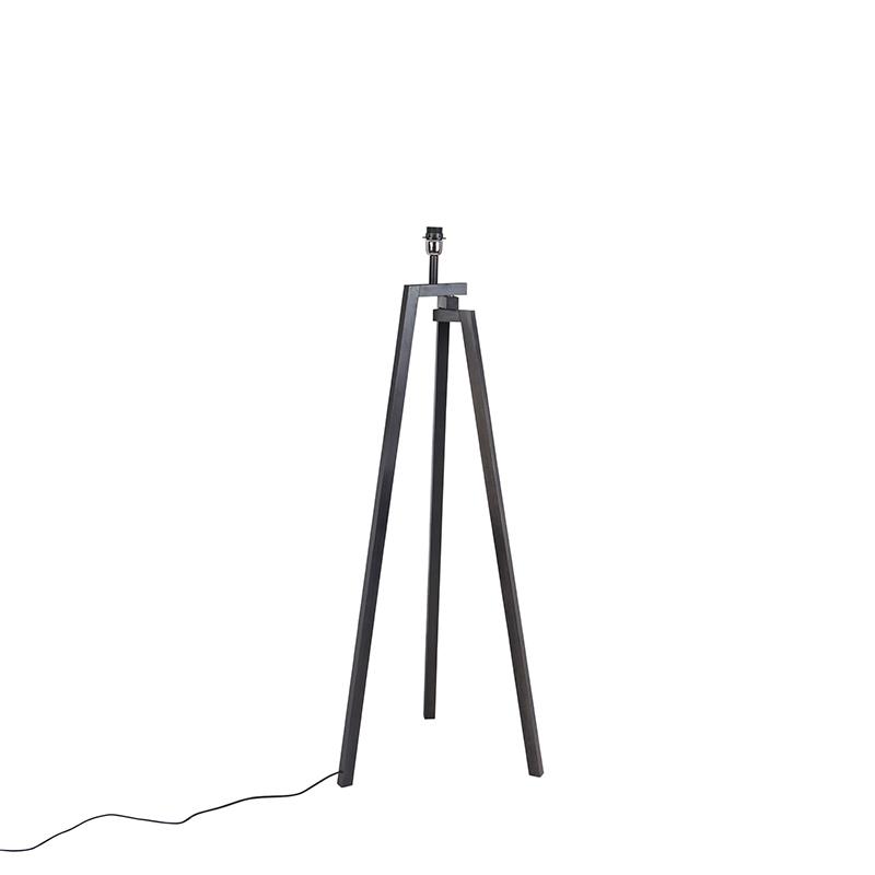 Design vloerlamp driepoot zwart hout - Cortina
