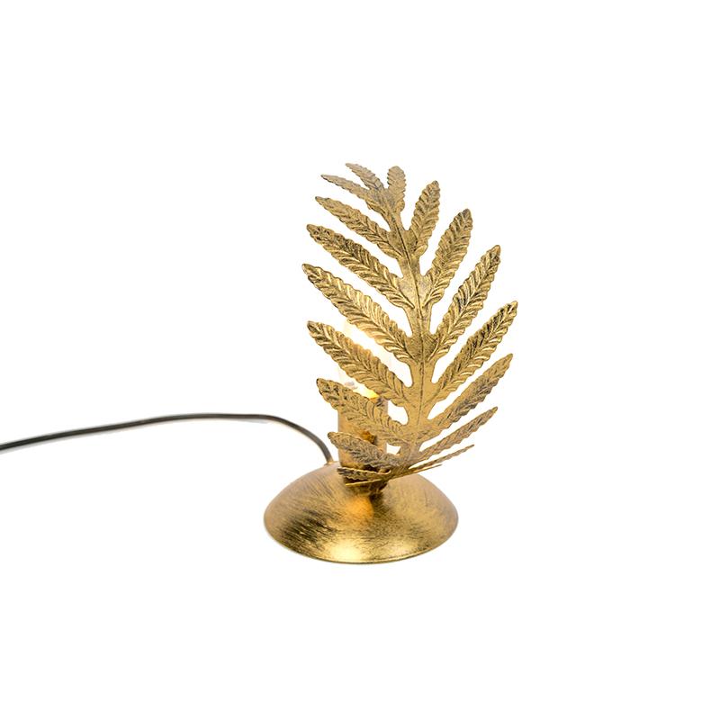 Lampa stołowa vintage mała złota - Botanica