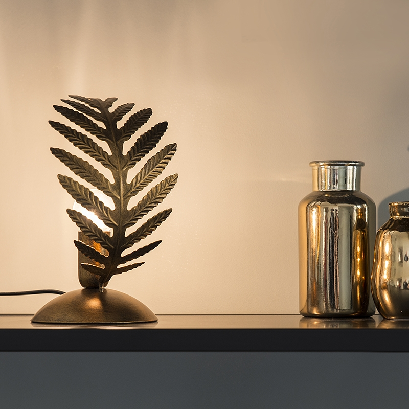 Vintage tafellamp small goud - Botanica