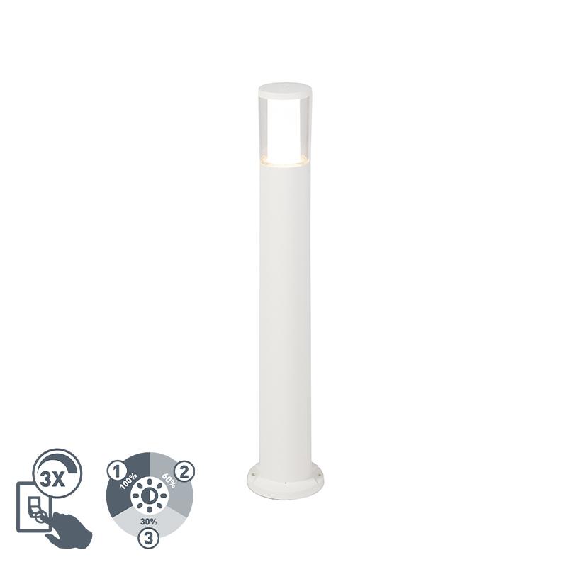 Nowoczesna lampa zewnętrzna biała 80cm GU10 IP55 - Carlo