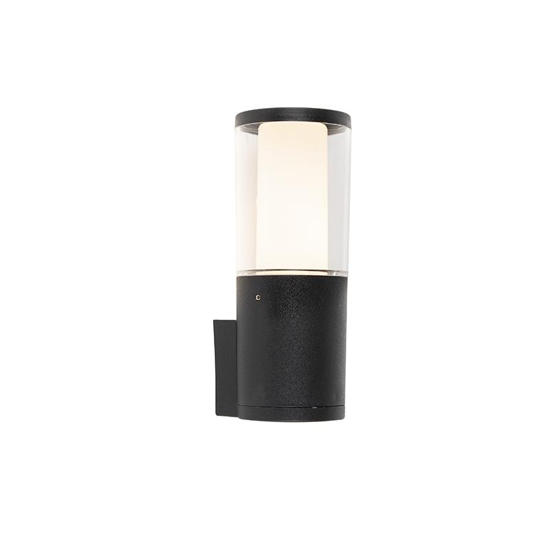 Moderne buitenwandlamp zwart IP55 incl. GU10 - Carlo