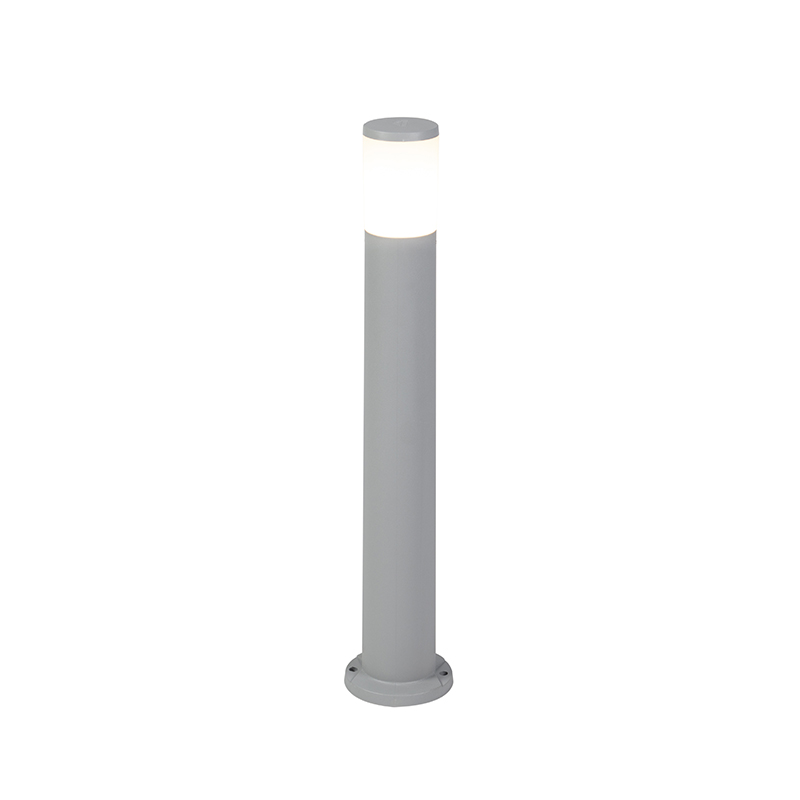 Moderne buitenpaal grijs 80 cm IP55 incl. E27 - Carlo