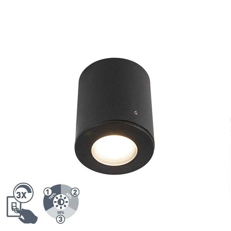 Opbouwspot zwart IP55 incl. 1 x GU10 - Franca
