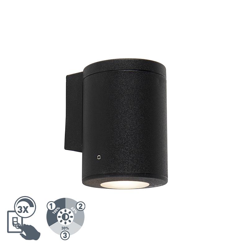 Moderne wandlamp zwart IP55 incl. 1 x GU10 - Franca