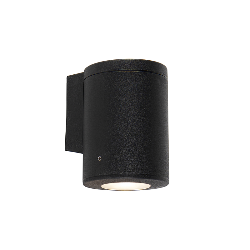 Moderne buitenwandlamp zwart IP55 incl. GU10 - Franca