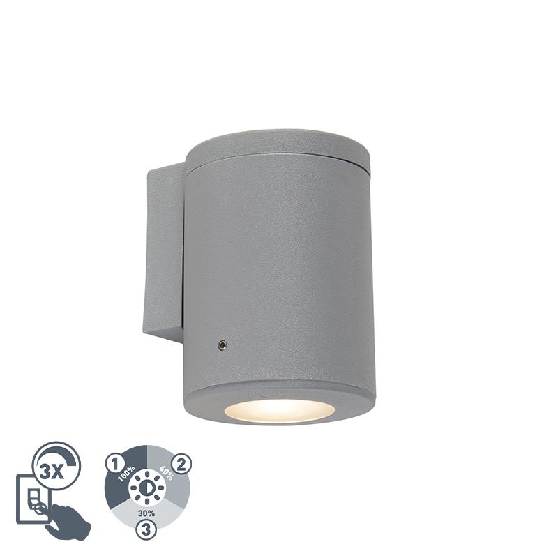 Nowoczesna lampa ścienna szary IP55 w tym 1 x GU10 - Franca