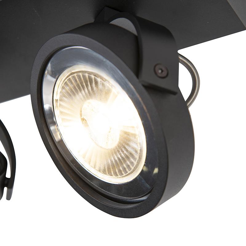 Design spot zwart verstelbaar 2-lichts incl. 2 x G53- Go Large