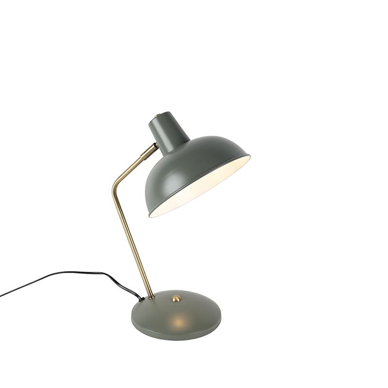 Lampa stołowa retro szara brąz - Milou