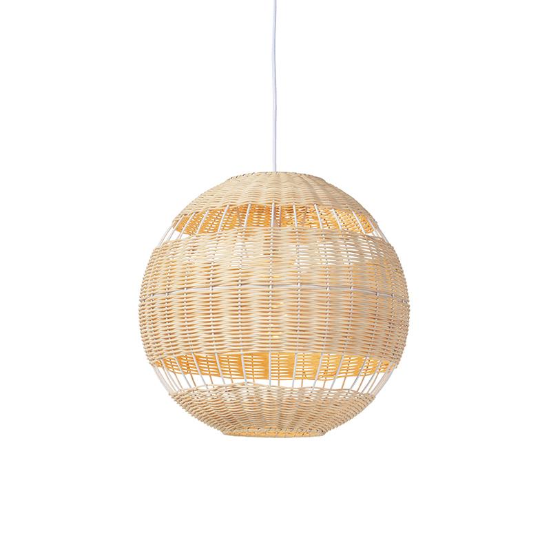 Rustykalna lampa wisząca rattan - Rattan