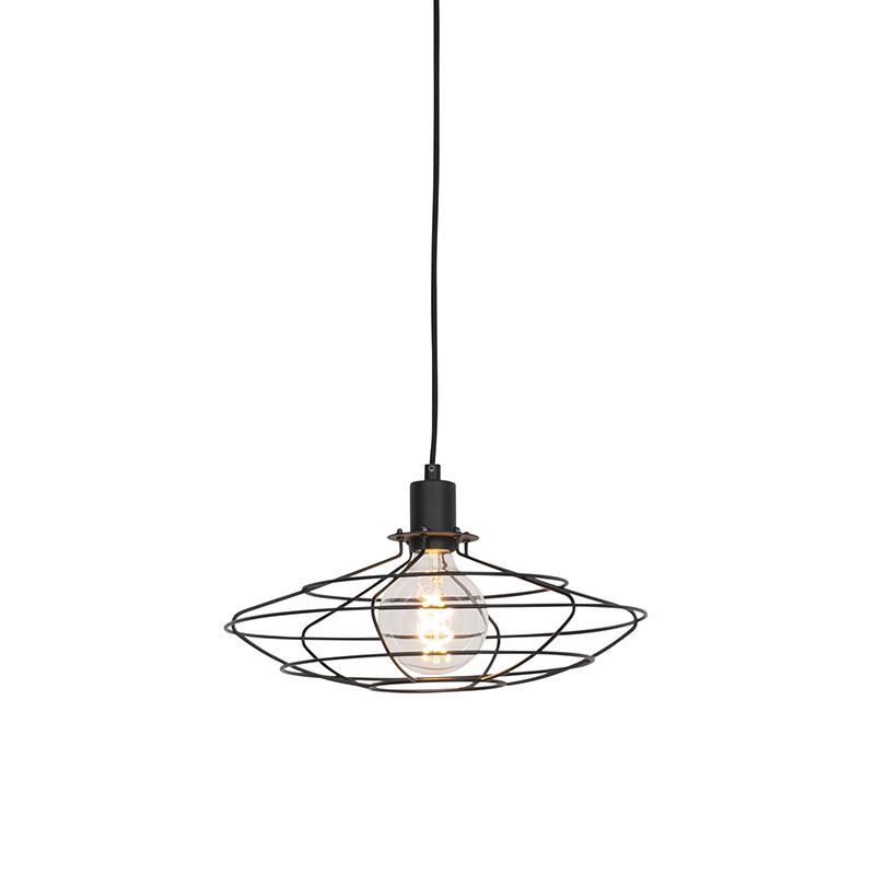 Vintage hanglamp zwart 37 cm - Laurent