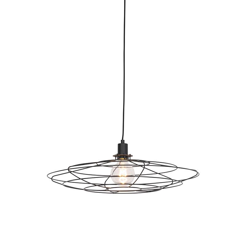 Vintage Draadlamp 60cm Hangend Zwart - Laurent