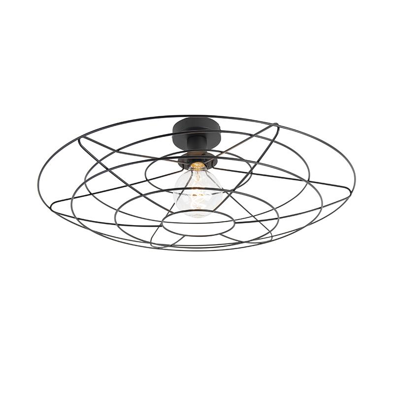 Vintage lampa sufitowa czarna 60 cm - Laurent
