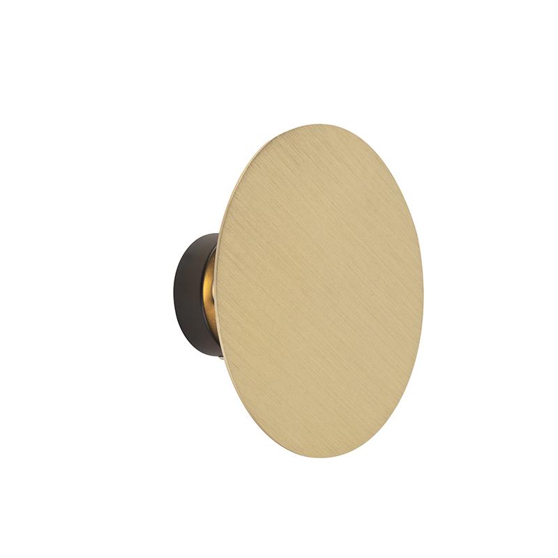 Design wandlamp rond goud - Pulley