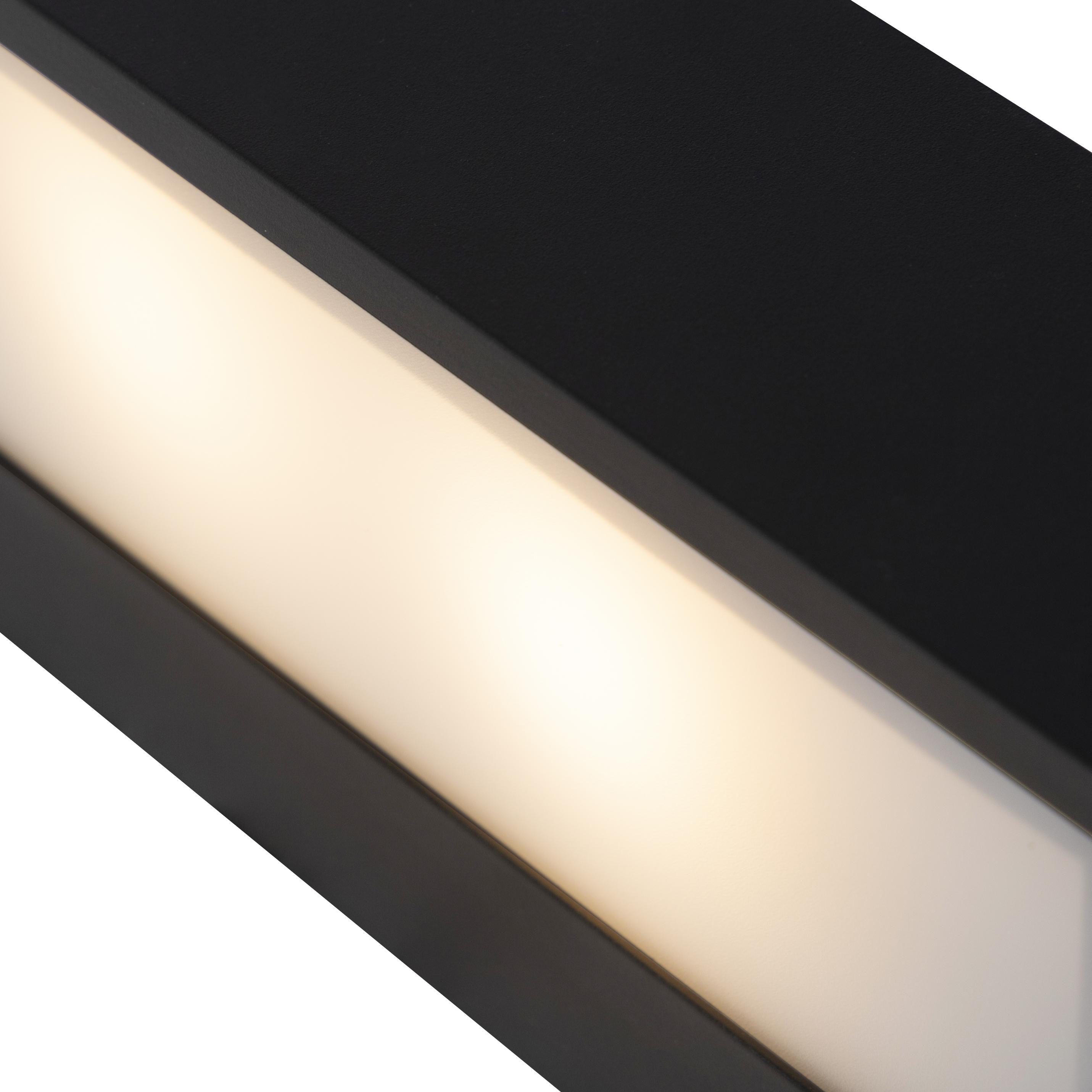 Design langwerpige wandlamp zwart 25cm - Houx