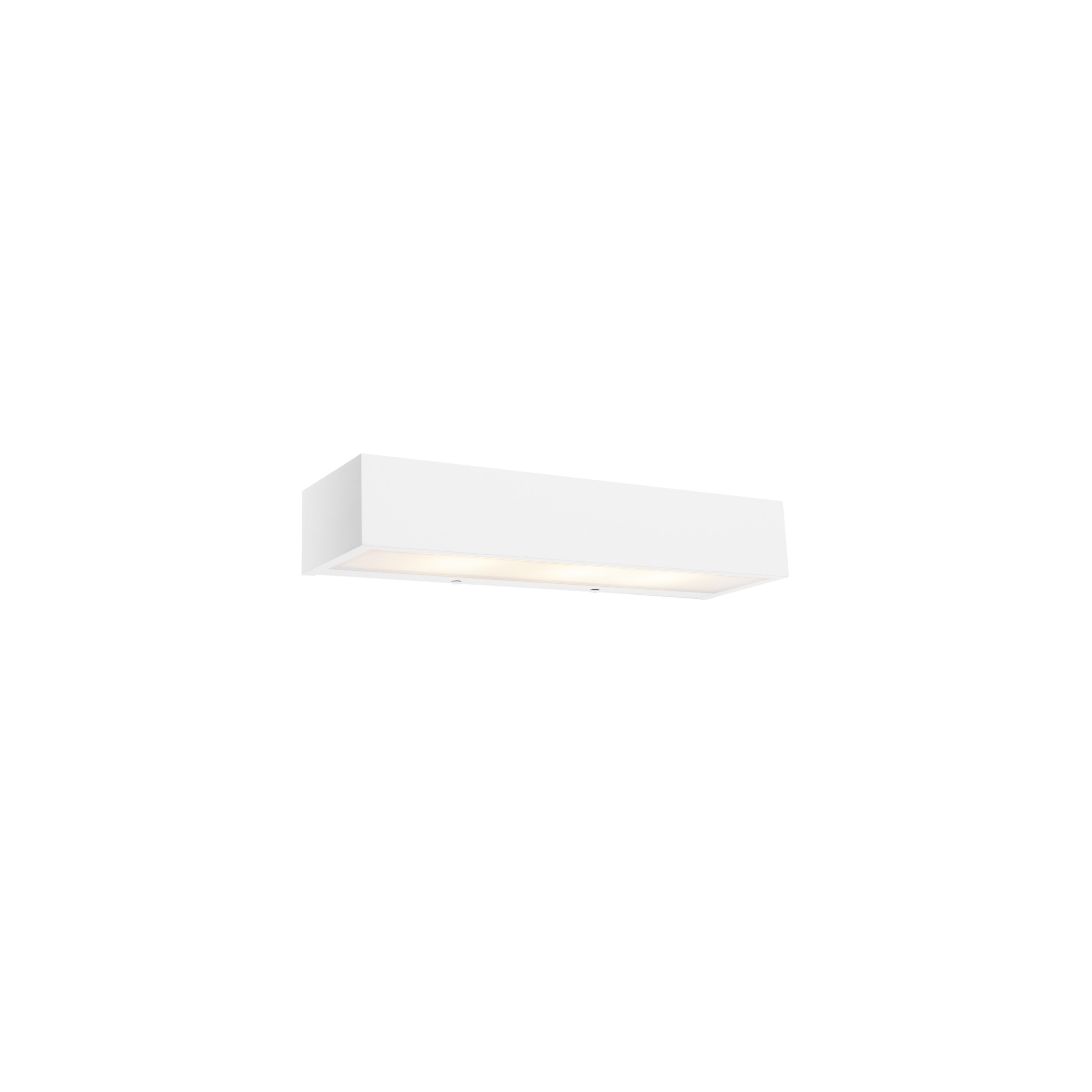 Design langwerpige wandlamp wit 35 cm - Houx