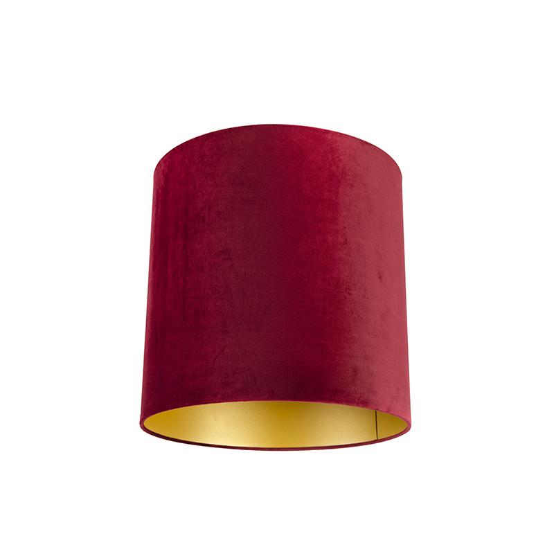 Lampenkap velours 40/40/40 rood - goud