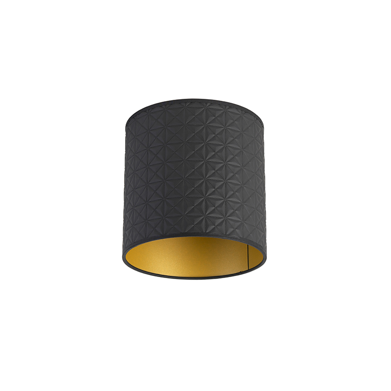 Lampenkap 20/20/20 zwart - goud triangle