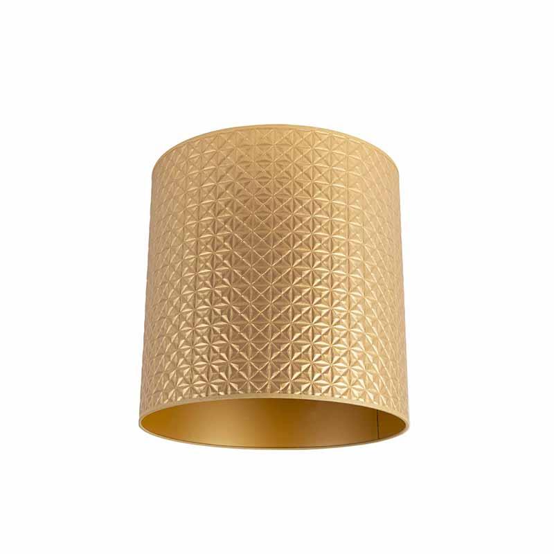 Lampenkap 40/40/40 goud - goud triangle