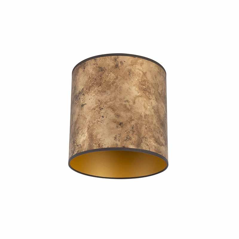 Lampenkap brons 25/25/25 met gouden binnenkant