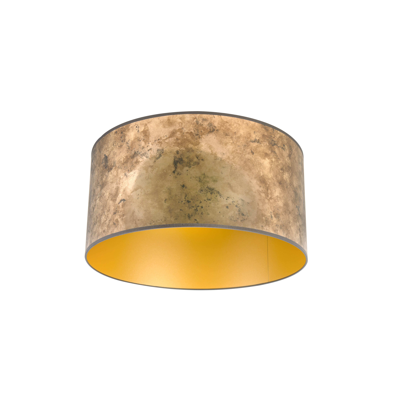 Lampenkap brons 50/50/25 met gouden binnenkant