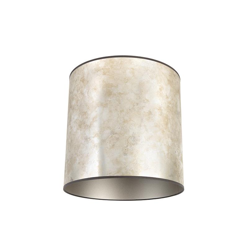 Lampenkap 40/40/40 zink - taupe