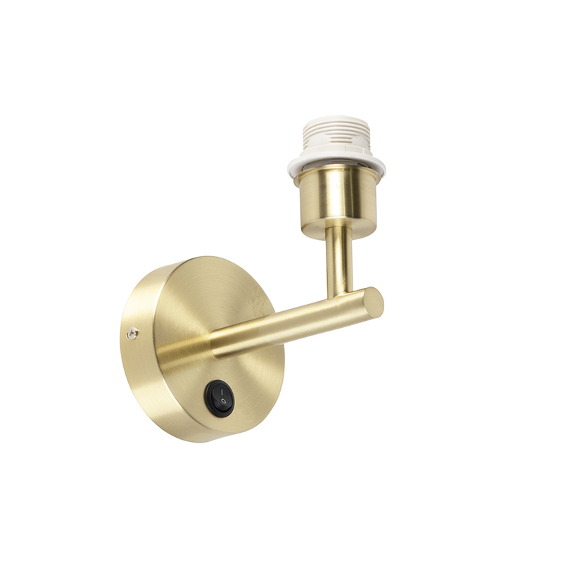 Moderne wandlamp goud 1-lichts met schakelaar - Combi