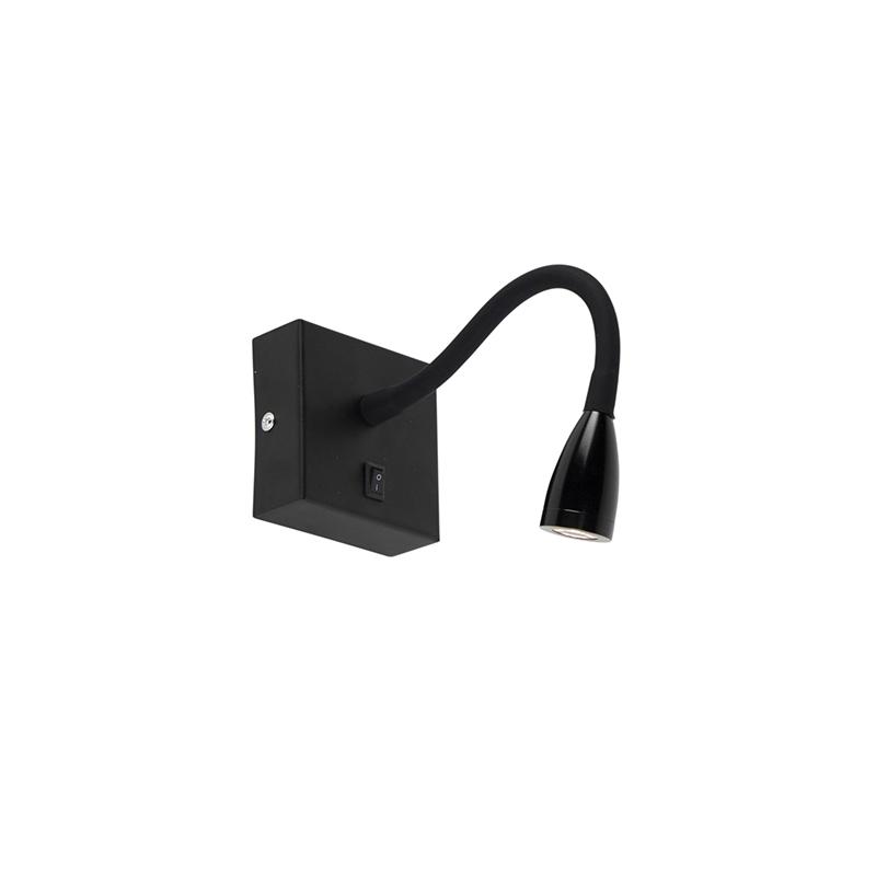 Moderne flexibele wandlamp LED zwart - Flex