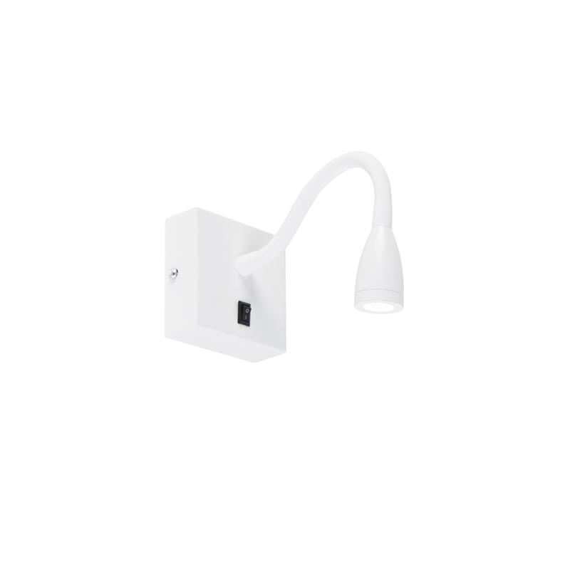 Moderne flexibele wandlamp wit LED - Flex