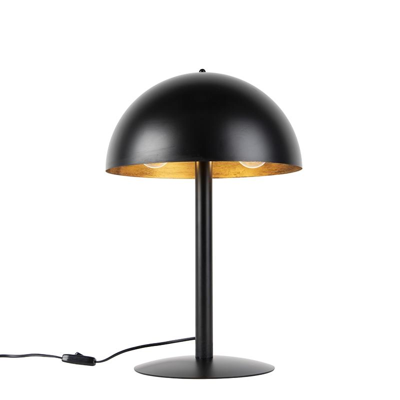 Industri�le tafellamp zwart met goud - Magna