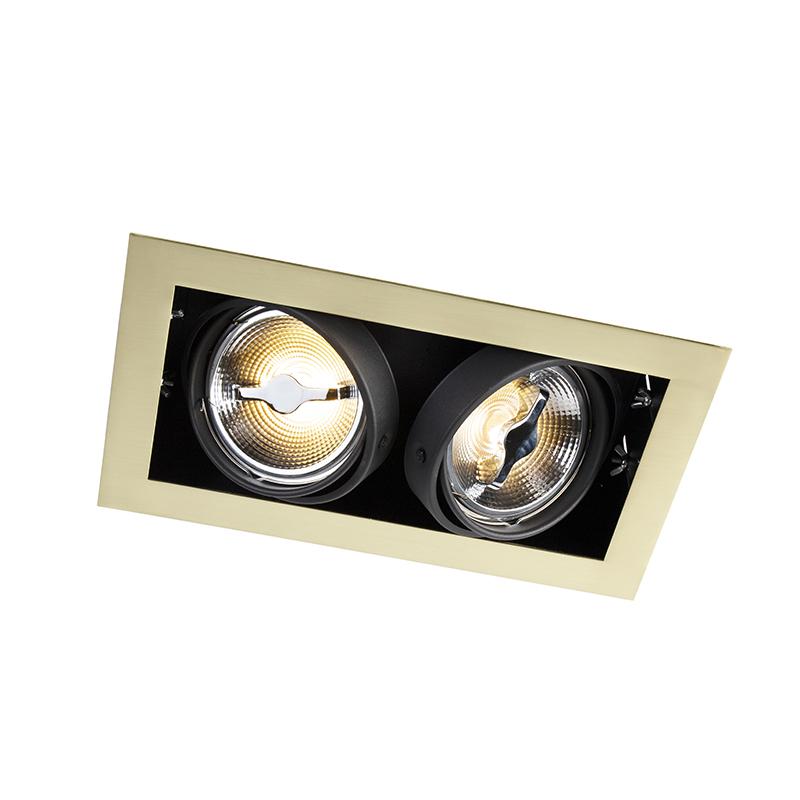 Rechthoekige inbouwspot goud - Oneon 111-2