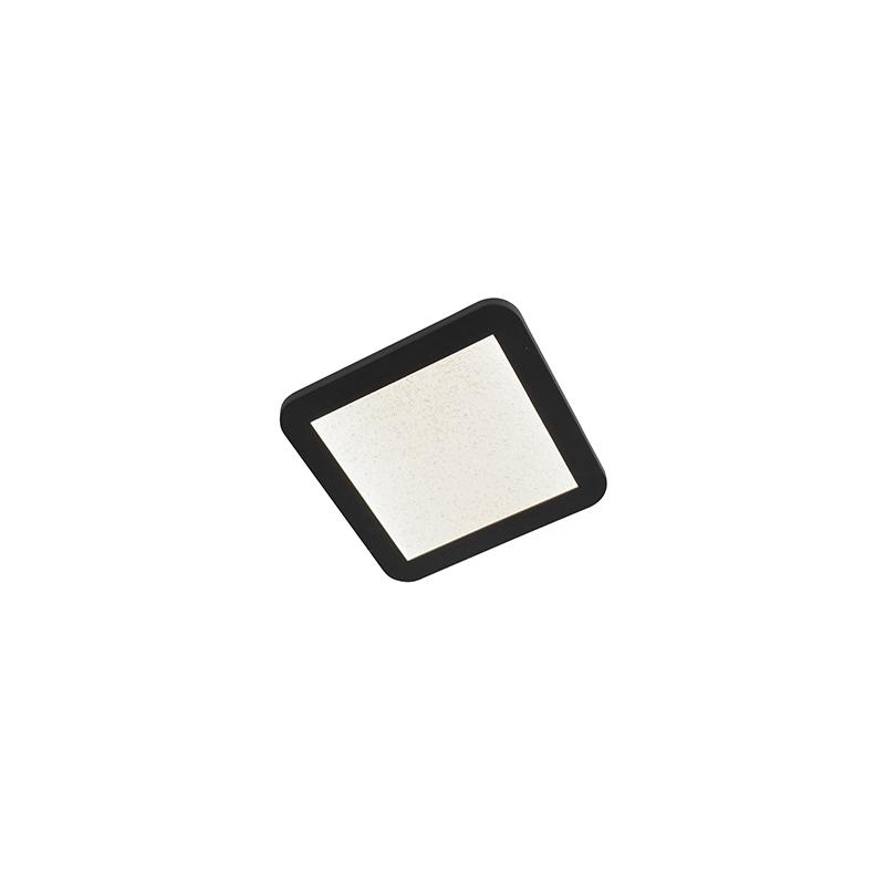 Plafon czarny 22,5cm IP44 3-stopniowe ściemnianie LED - Steve