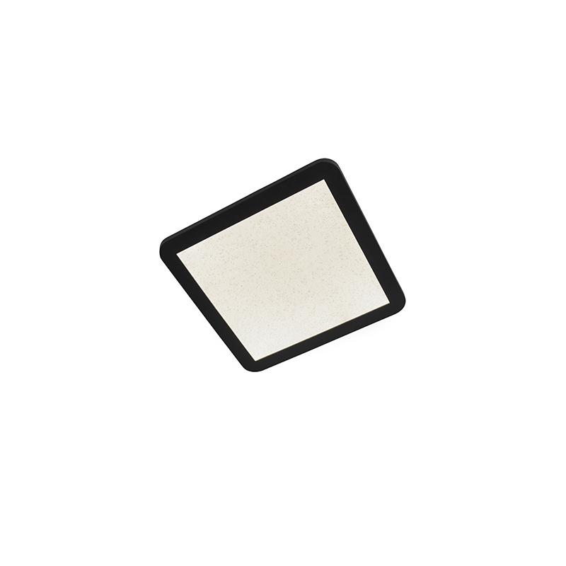 Plafondlamp zwart 27,6 cm incl. LED 3-staps dimbaar IP44 - Steve